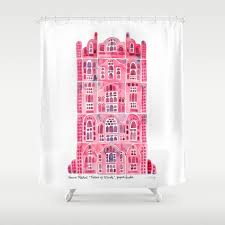 India Shower Curtain Hawa Mahal Pink Palace Of Jaipur India Shower Curtain By Catcoq