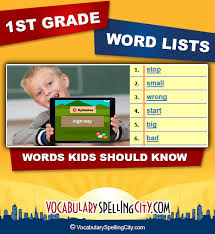 1st grade word lists vocabularyspellingcity