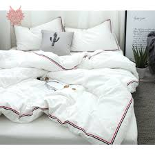 Japanese Bedding Sets Solid Bedding Set Sanding Duvet Cover Double Side Queen Full Twin