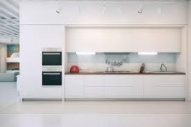 photo cuisine blanche cuisine minimaliste en blanc pour tous ceux qui aiment l espace