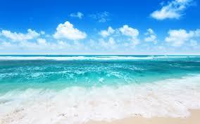 beach ocean beach nature blue waves sky summer sea clouds