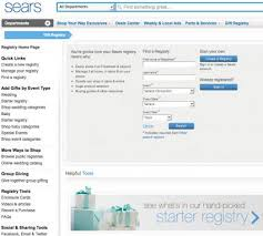 sears wedding registry popular wedding registries