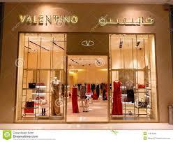 boutique fashion valentino fashion boutique editorial stock photo image of