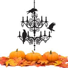 Chandelier Wall Stickers Spooky Chandelier Decal Vinyl Wall Sticker Halloween