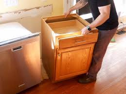 how to replace base cabinets how to install kitchen cabinets and remove them