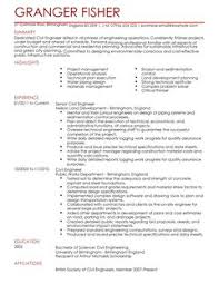 Civil Resume Sample by Civil Engineer Cv Example For Engineering Livecareer
