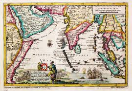 Map Of The Asia by Historic Rare Old Antique Maps Asia Seaboards Indian Ocean The