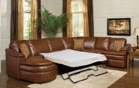 leather sectional sofa with sleeper foter