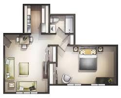 apartment 1 bedroom apartment floor plan
