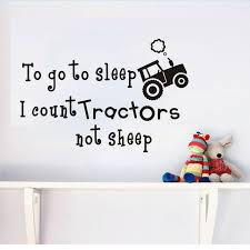 stickers mouton chambre bébé à aller à dormir je compte tracteur pas des moutons wall sticker
