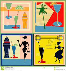 retro martini clip art retro cocktail labels stock vector image of flyer party 24327058