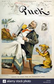 cartoons thanksgiving thanksgiving puck magazine cover entitled waiting for scraps from