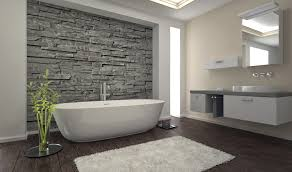natural stone bathroom designs white stain wall varnished wood