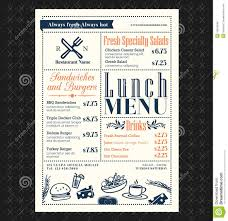 retro frame restaurant lunch menu design stock vector image