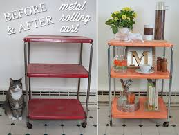 upcycling a metal rolling cart in four easy steps goodwill