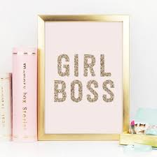 Desk Accessories Canada by Boss Gold Decor Gold Glitter Boss Print Boss