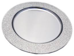 rhinestone charger plate modern charger plates by sparkles home