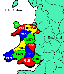 where is wales on the map genuki wales