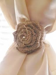 Where To Buy Curtain Tie Backs Burlap Rose Curtain Tie Back Choose Your Size And Color