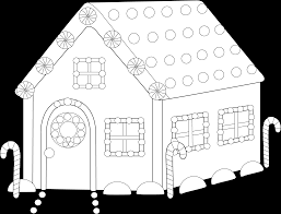 gingerbread man house clipart 37