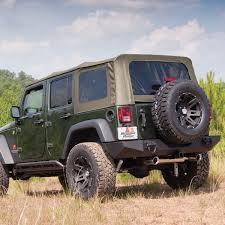 jeep wrangler unlimited softtop rugged ridge 13741 36 khaki top w tinted windows w o