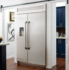 ge glass door refrigerator built in and free standing refrigerators monogram kitchens