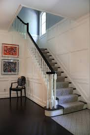 stairs molding ideas entry contemporary with white trim dark wood