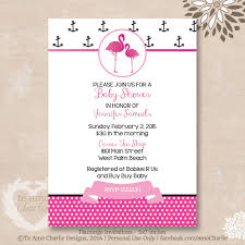 pink flamingo baby shower invitations pink and black