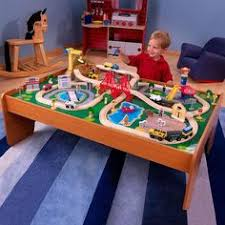 kidkraft train table compatible with thomas ride around town train set with table 100 colorful pieces