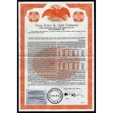 texas power and light company texas power light company bond certificate artonpapers