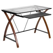 Wooden Corner Desk Top Have Slide Out Drawer For Keyboard by Office Desk Keyboard Tray Target