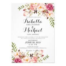 invitation wedding floral wedding invitation amulette jewelry