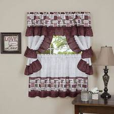 Cafe Tier Curtains Ruffled Cafe Tier Curtains Ebay