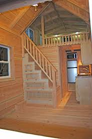 Stairs In House by A Tiny House On Wheels With Two Lofts And Stairs In Felton