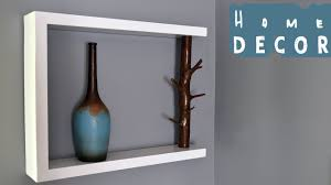 Tree Branch Decor Diy Decor Shelf With Tree Branch Youtube