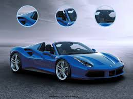 ferrari 488 modified ferrari 488 gts gets rendered in blue