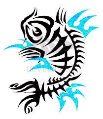 tribal koi fish bend of japanese and tribal