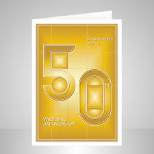 50 wedding anniversary 50th wedding anniversary card golden design stuartconcepts