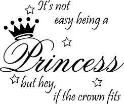 5pcs lot not easy being princess decor cute vinyl wall decal quote