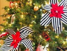 How To Trim A Real Christmas Tree - white christmas tree decorating ideas hgtv