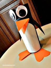 how to make a cute little toilet paper roll penguin ducks u0027n a row