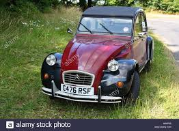citroen 2cv classic citroen 2cv charleston in burgundy and black stock photo