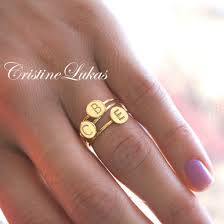 rings with initials lively inspired stackable initials rings order initials of