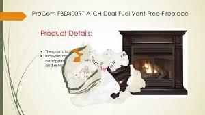 reviews of procom fbd400rt a ch dual fuel vent free fireplace