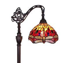 Reading Floor Lamps Amora Lighting Am079fl10 Tiffany Style Dragonfly Reading Floor