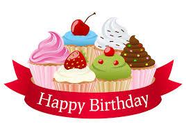 happy birthday ribbon birthday cupcakes ribbon stock vector illustration of