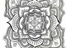 Glitter Force Coloring Pages Just Colorings Mandala Flowers Coloring Pages