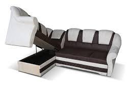 canapé avec coffre canape angle avec couchage et coffre de rangement marron