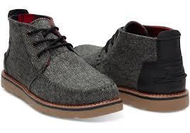 s chukka boots on sale charcoal fleck s chukka boots toms