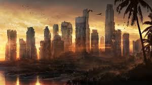 abandoned city apocalyptic cities fantasy urban walldevil